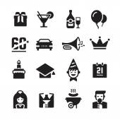 Party and Celebration Icons — Stock Vector