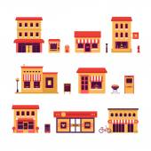 Local Business Buildings — Stock Vector