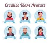 Marketing Team Avatars — Stock Vector