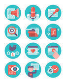 Content Marketing and SEO Icons — Stock Vector