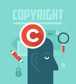 Copyrighting Concept — Stock Vector