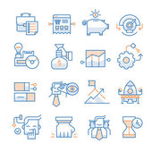 Business Startup Icons Collection — Stock Vector