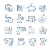 Obchodní spuštění ikony kolekce — Stock vektor
