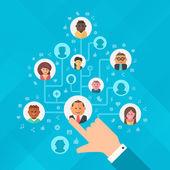 Building Social Media Audience — Stock Vector