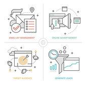 Online Marketing Technologies — Stock Vector