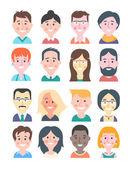 Cartoon People Avatars — Stock Vector