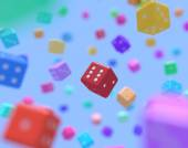 Multicolor dice — Stock Photo