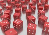 Reds dice — Stock Photo