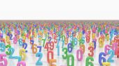 Endless numbers — Stock Photo