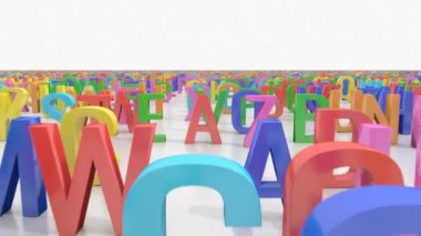 Endless alphabet letters — Stock Video