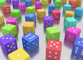 Dice colors random — Stock Photo