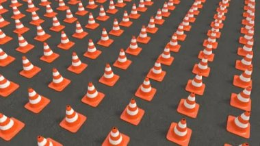 Traffic cones tracking — Stock Video