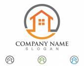 Home green save — Stock Vector