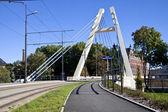 Jagiello Bridge in Bydgoszcz - Brda River — Stock Photo