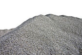 Gray Gravel Hill - White Background — Stock Photo