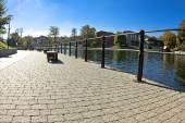 Mill Island - Brda River in Bydgoszcz - Poland — Stock Photo