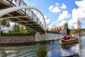 Bridge over the Brda River in Bydgoszcz - Poland — Stock Photo