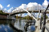 Bridge Lovers - Brda River in Bydgoszcz - Poland — Stock Photo