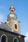 Evangelische Stadtkirche - Protestant Church in Monschau - Germany — Stock Photo