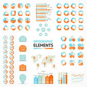Vector infographic elements set. Templates for diagram, graph, presentation and chart. Business concepts with 3, 4, 5, 6 options, parts, steps or processes. — Stock Vector