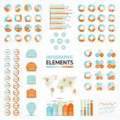 Векторные элементы набор инфографики. шаблоны для схема, граф, презентации и диаграммы. бизнес-концепции с 3, 4, 5, 6 вариантов, частей, шаги или процессов. — Cтоковый вектор