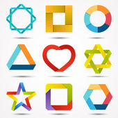 Abstract creative signs and symbols set. Logo template. — Stock Vector