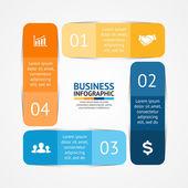 Infográfico de quadrados de vetor. Modelo de diagrama, gráfico, apresentação e gráfico. Conceito de negócio com 4 opções, partes, etapas ou processos. Fundo abstrato. — Vetor de Stock