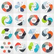 Vector circle infographics set. Template for diagram, graph, presentation and chart. Business concept with 6 options, parts, steps or processes. Abstract background. — Stock Vector #58281451
