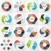 Vector circle infographics set. Template for diagram, graph, presentation and chart. Business concept with 6 options, parts, steps or processes. Abstract background. — Vector de stock