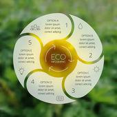 инфографика экологии crcle. фон пятна природы. — Cтоковый вектор
