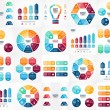 Vector infographics set. Templates for cycle diagram, graph, presentation and round chart. Business startup concept with 3, 4, 5, 6, 7, 8 options, parts, steps or processes. Data visualization. — Stock Vector #76001297