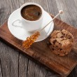 Espresso and chocolate chip cookies — Stock Photo #58943171
