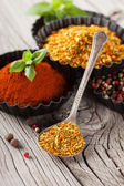 Aromatic spices and herbs — Stock Photo