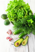 Mix of green vegetables — Stock Photo