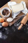 Baking cake ingredients — Stock Photo
