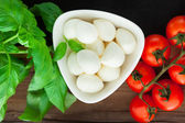 Italian food background — Stock Photo