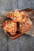 Crispy fresh croissants — Stock Photo