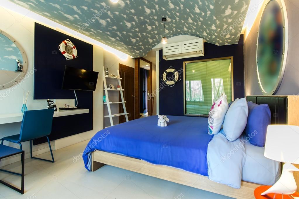 Stile moderno della camera da letto con il concetto di for Stile moderno della prateria