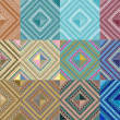 Set of seamless pattern abstract shape background — Stockvector  #52761521