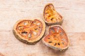 Piece of dried  balefruit — Stockfoto