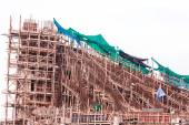Structure detail in process of construction by using  alot of lo — Stock Photo