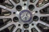 The Mercedes Benz's mag wheel showed in 31th Thailand Internatio — Stock Photo