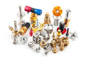 Spare part of motorcycle for decorating and maintenance — Stockfoto