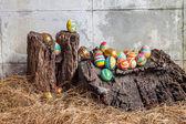 Sada barevné velikonoční vajíčko — Stock fotografie