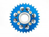 The hob and sprocket of motorcycle — Stock Photo