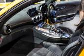 Inside of Mercedes AMG GTS — Stock Photo