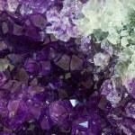 Close up Amethyst crystal a semiprecious gem — Stock Photo #83982698