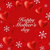Glad mors dag bakgrund — Stockvektor