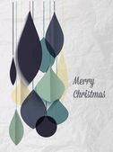 Retro christmas decorationwith flat design — Stock Vector