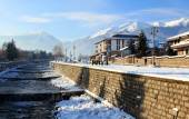 Snowtown. Winter in Bulgaria — Stock Photo